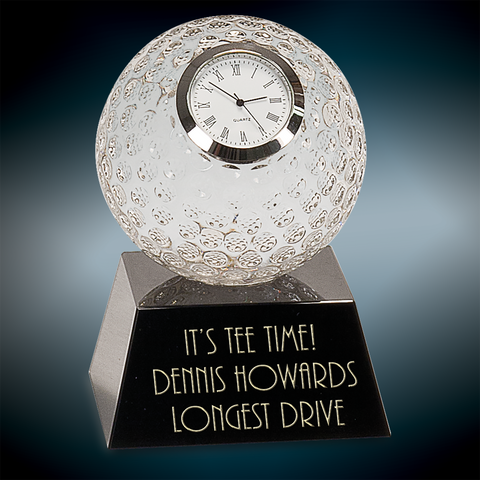 Crystal Golf Ball Clock