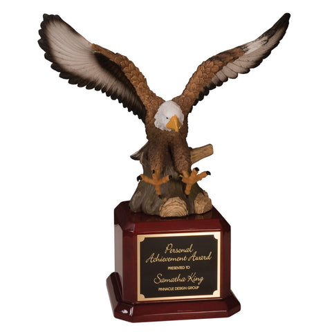 Handpainted Eagle On Piano Finish Base