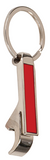 Metal Bottle Opener Keychain Red
