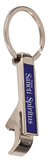 Metal Bottle Opener Keychain Blue
