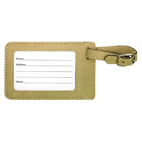 Leather Luggage Tag  (Light/Dark Brown)