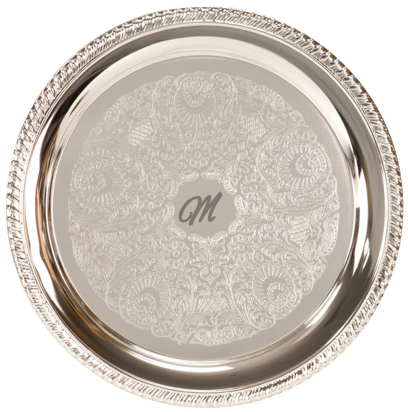 "Silver Plated Tray (8"",10"",12"")"