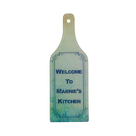 Wine Bottle Shape Glass Cutting Board