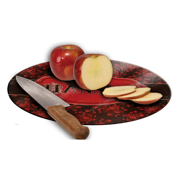 Round Glass Cutting Board