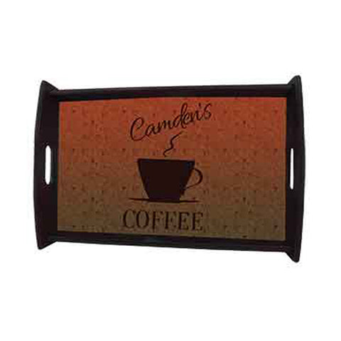 Large Expresso Black Serving Tray