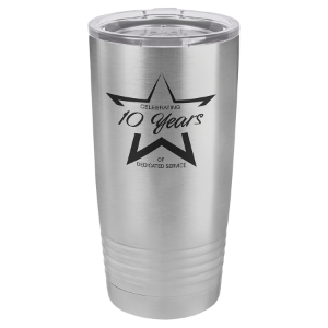 Insulated Tumbler w/Clear Lid 20 oz Polar Camel Brand