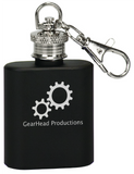 1 oz. Matte Black Stainless Steel Flask Keychain
