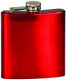6oz  Stainless Steel Flask red