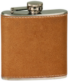 6oz  Stainless Steel Flask leather