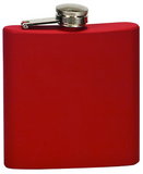 6oz  Stainless Steel Flask matte red