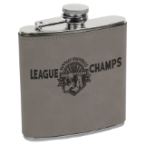 6 oz Leatherette Stainless Steel Flask