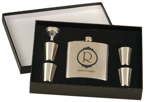 6Oz Flask & Shot Glass Gift Set