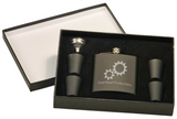 6Oz Flask & Shot Glass Gift Set matte black