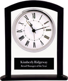 Square Arch Glass Clock with Black Border