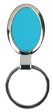 Large Blue Oval Keychain