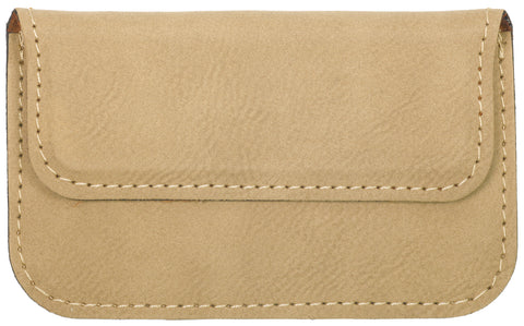 Soft Light Brown Leather Business Card Holder