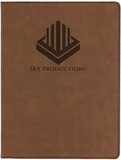 Leatherette Portfolio (Light/Dark Brown)