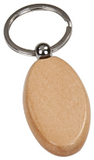 Maple Finish Oval Keychain