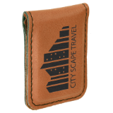 "Money Clip Laserable Leatherette 1 3/4"" x 2 1/2"""