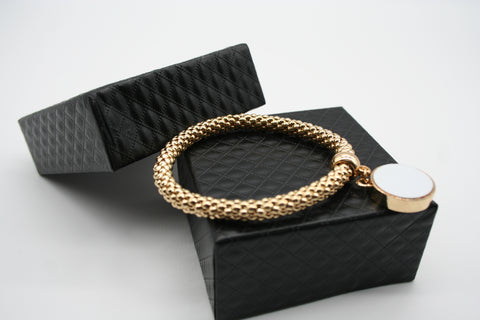 Rope Bracelet With Charm Gold