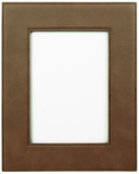 Dark Brown Leather Picture Frame