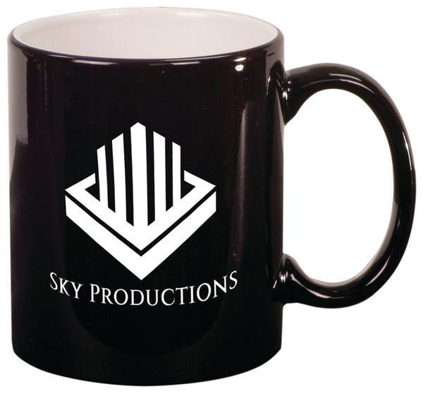 Round Ceramic Mug (10 oz) black