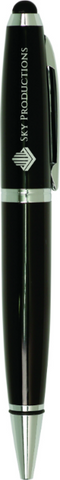 Black Wide Barrel Pen with Stylus
