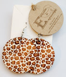 Animal Print Round Leopard Earrings
