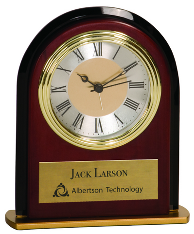 Mahogony Finish Arch Clock
