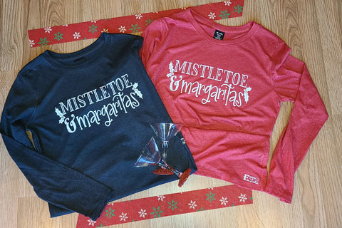 Mistletoe and Margaritas Long Sleeve Tshirt