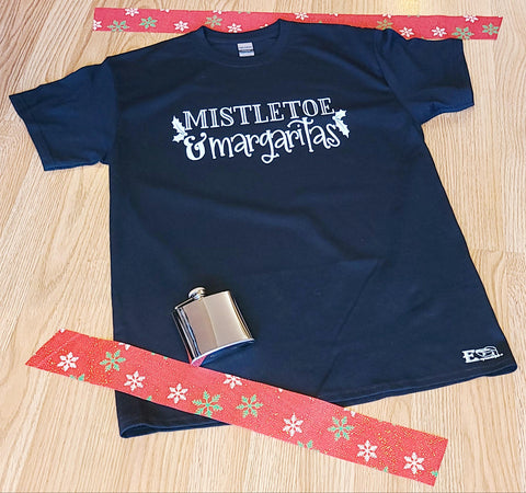 Mistletoe and Margaritas Mens Tshirt