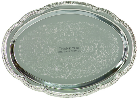 Chrome Plated Oval Tray