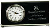 Black Piano Finish Horizontal Desk Clock