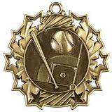 "2 1/4"" Baseball Ten Star Medal"