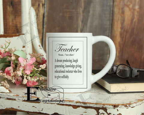 Teacher Definition Mug