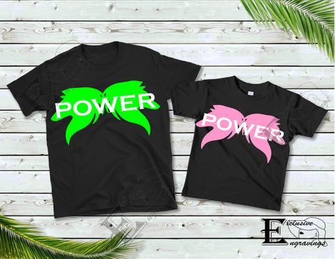 Wolf Power T-shirt Pink