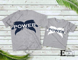 Wolf Power T-shirt Blue