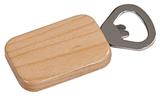 Magnetic Rectangle Bottle Opener Maple