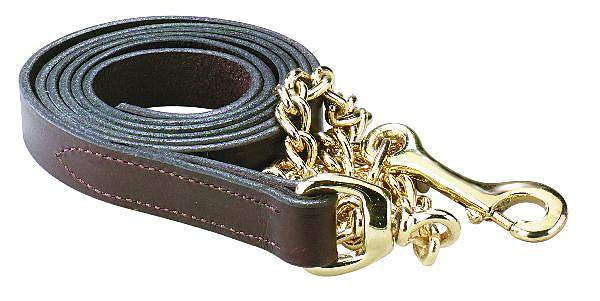 "Lead shank - leather w/20"" chain"