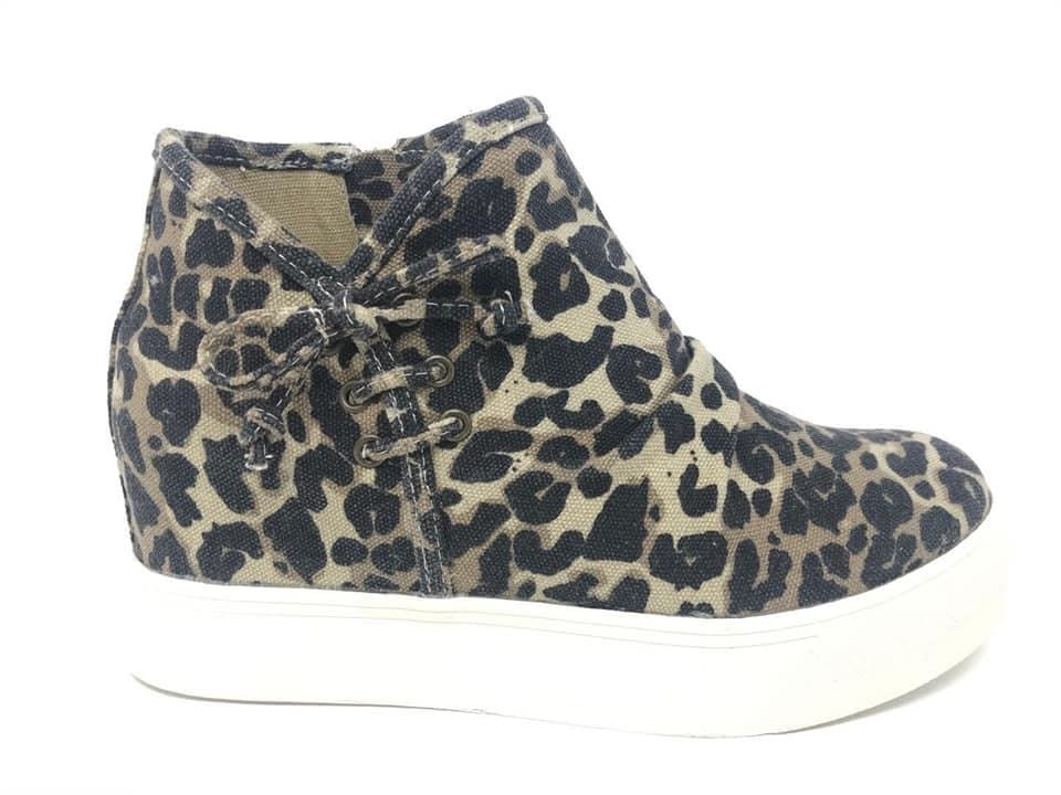 "Leopard ""Angela"" High Tops by Very G"