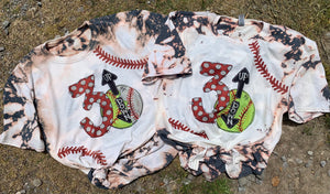 3 Up 3 Down Bleached Tee