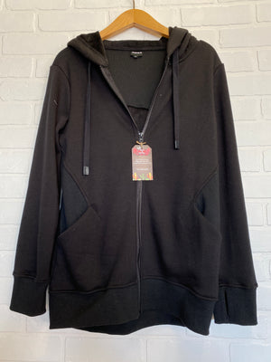 Mono B Zip Up Athletic Jacket in Black
