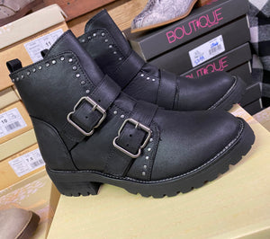 """Maverick"" Bootie by Very G in Black"