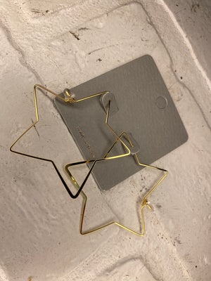Thin Wire Star Hoops