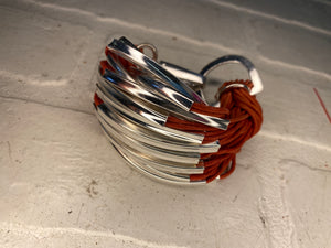 Chunky Bracelet with Metal Accents