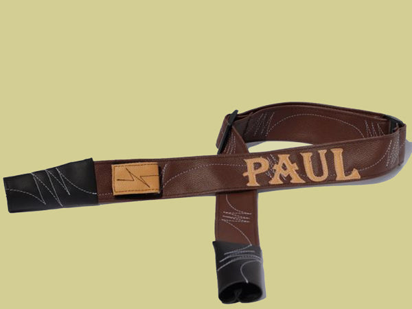 Customized Leatherette Rifle Sling-Brown