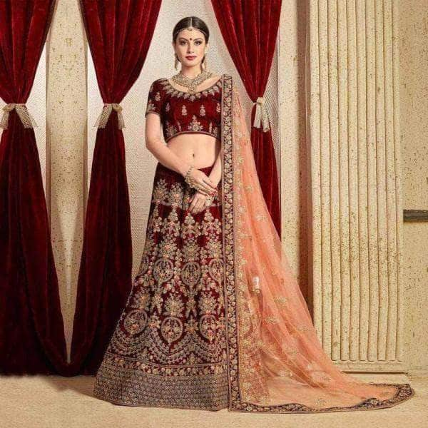 The Indian Designer Lehenga Choli from Fashionvibes.net