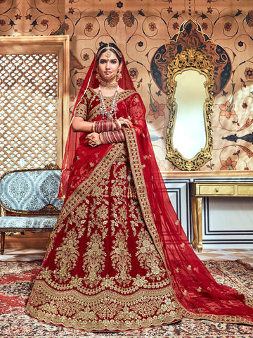 Banglory Silk Lehenga with Heavy Embroidery