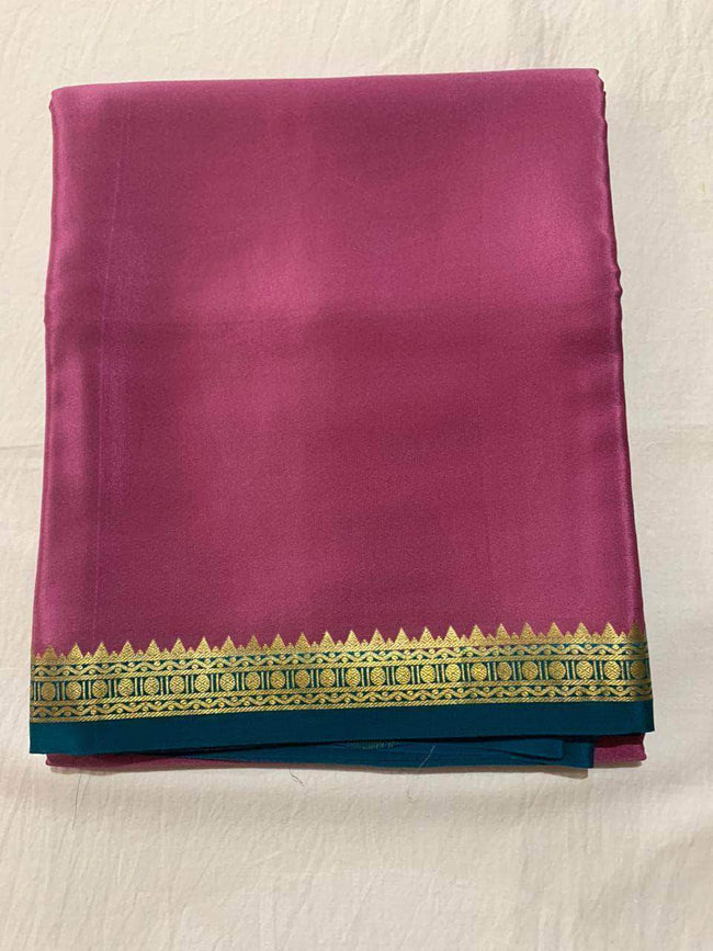 100gm Thickness Pure South Silk Saree in DeepPink - Saree - FashionVibes