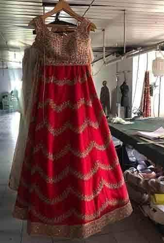 Anushree Reddy inspired Bridal Lehenga in - Lehenga - FashionVibes